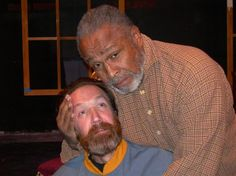 Michael Donlan (Caleb) and Percy Thomas (Caleb). Photo by Rodney Bonds.