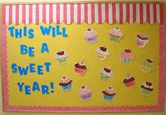 second grade welcome back to school bulletin board ideas - Bing Images Nice for birthday board! Back To School Bulletin Boards, Preschool Bulletin Boards, Preschool Classroom, In Kindergarten, Preschool Crafts, Bullentin Boards, Preschool Ideas, Cupcake Bulletin Boards, January Bulletin Board Ideas