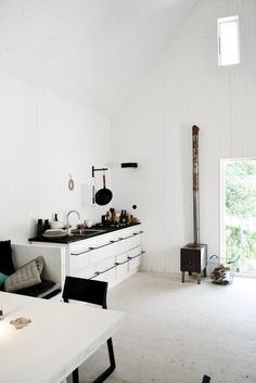 Simply white kitchen