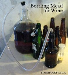One gallon mead recipes and basic techniques for homebrew, including dandelion mead, blackberry mead, and more.