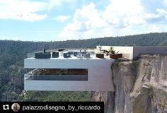 On the Edge: A Cantilevered Restaurant Overhangs Mexico's Copper Canyon - Arch. - nikita punk - - On the Edge: A Cantilevered Restaurant Overhangs Mexico's Copper Canyon - Arch. Cantilever Architecture, Architecture Design, Amazing Architecture, Contemporary Architecture, Cliff House, Glass Floor, Luxury Life, Modern House Design, Exterior