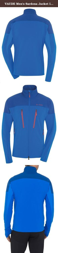 VAUDE Men's Sardona Jacket II, Hydro Blue, Large. Free like the wind. This high-stretch softshell is made from eco-friendly, bluesignA certified Windproof 80 material. The stretch fabric, anatomical fit and elastic stretch inserts under the arms guarantee maximal freedom of movement for climbing and mountaineering. With long ventilation zips and high-set pockets, the Sardona jacket is a great choice for demanding and technical tours. This product was manufactured with Eco Finish and is...