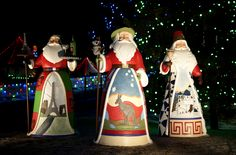 Over Lifesize - Jim Shore Santa's of the world! #SpruceMeadows a most International Place.
