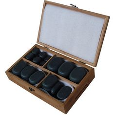 """<strong class=""""js-codeception-manufacturer"""">Sivan</strong> 36 Piece Basalt Lava High Polish Hot Stone Massage Set"""