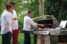 The Prestige PRO™ Gas Grill is the pinnacle of masterful design and engineered performance. Featuring a linear pedestal design and stunning chrome accents this new grill will be the talk of every backyard barbecue. The Prestige, Barbecue, Engineering, Backyard, Grilling Ideas, Pedestal, Kitchenware, Outdoor, Barbacoa
