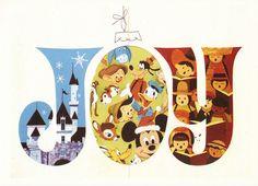 Vintage Disney greetings, 1968.