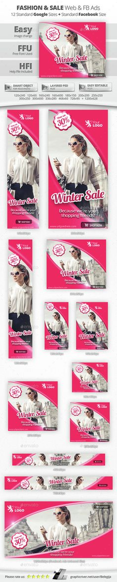 Fashion & Sale Web & Facebook Banners/Ads - Banners & Ads Web Elements