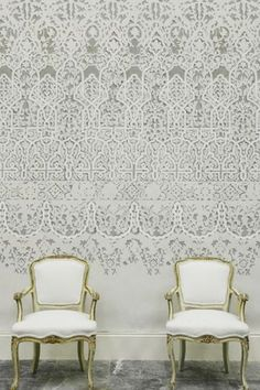 Global styling with Egyptian style from Petra Wallpaper by Lewis  Wood - available in 4 Colourways £169 per roll