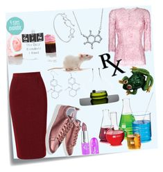 """""""lab"""" by priyaarun on Polyvore featuring Post-It, Roland Mouret, Dolce&Gabbana, adidas Originals, Libbey and Bling Jewelry"""