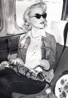 Denim Jacket, 50's, Cateye glasses I love this look, try to copycat with vintage!