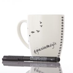 This message mug comes with a pen and the ink rubs off in warm water so you can leave a different message err'day. Libra, Messages, Mugs, Tableware, How To Make, Gifts, Presents, Dinnerware, Cups