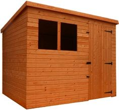 Pent TIMBER GARDEN SHED with windows, Stockport