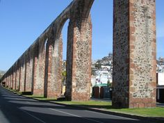Aqueduct of Queretaro City, State of Queretaro, Mexico.