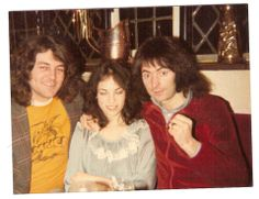 Left to right: Ian Gillian, Amy & Ritchie Blackmore. Amy was Ritchie's third wife; they met in 1978, married in 1981 and divorced in 1984.