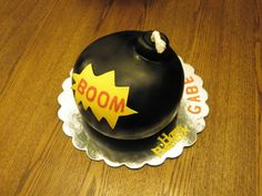 Bomb Cake Bomb cake made with White cake and fondant