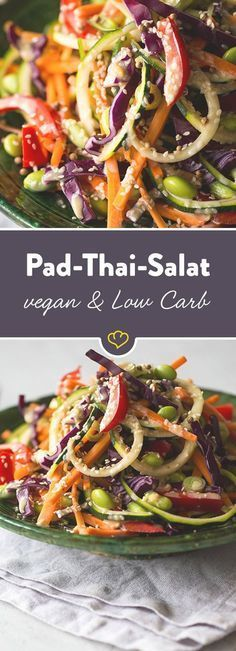Pad Thai Salat - # Check more at food. - Pad Thai Salat – # Check more at food. Grilling Recipes, Raw Food Recipes, Diet Recipes, Vegetarian Recipes, Healthy Recipes, Healthy Food, Zoodle Recipes, Tilapia Recipes, Pescatarian Recipes