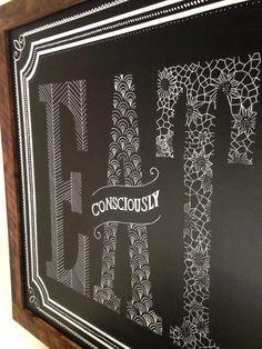 Laney & Lu Cafe chalk lettering by Kelsy Stromski of Refinery 43