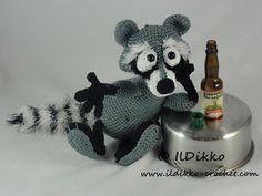 Amigurumi Crochet Pattern - Rupert the Raccoon Wasbeer