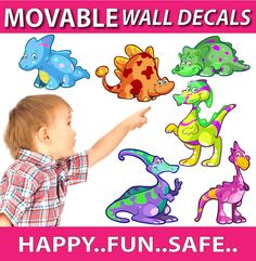 smartwalling, MOVABLE wall decals - Dinosaurs Wall Decals, $7.95 (http://www.wholesaleprinters.com.au/dinosaurs-wall-decals)
