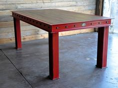 Firehouse Table from Vintage Industrial Furniture....so cool