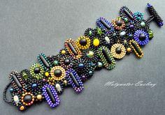 czerń wokół fluo bransoleta w Motywator Eweliny na DaWanda.com