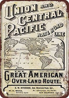 """1872 Union Pacific Railroad Overland Route 10"""" x 7"""" Vinta... https://www.amazon.com/dp/B01DYY81UE/ref=cm_sw_r_pi_dp_x_DXjPybGD31VHR"""