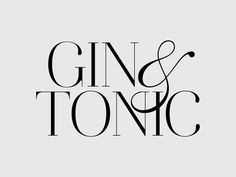 Things for Drinks is into great typo's : Gin & Tonic