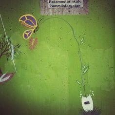 #katutaidetta #Pasilassa #ratamestarinkatu #streetart social #butterfly #perhonen #pasila #Helsinki
