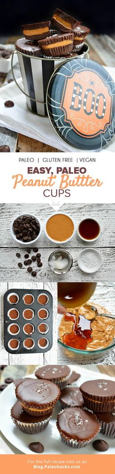 Fan of Reese's? Then you'll love everything about these healthy Paleo-friendly Almond Butter Cups! For the full recipe, visit us here: http://paleo.co/almondbuttercups