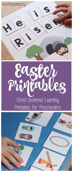 Christ-Centered Easter Printables for Preschoolers - Click through to download the FREE packet!