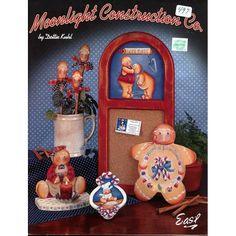 Moonlight Construction Co Gingerbread Santa Snowmen Christmas Tole Painting Patterns Book