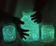 lights in a mason jar