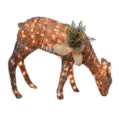 Shop Holiday Living  1-Piece Grapevine Doe Outdoor Christmas Decoration at Lowe's Canada. Find our selection of outdoor christmas decorations at the lowest price guaranteed with price match + 10% off.