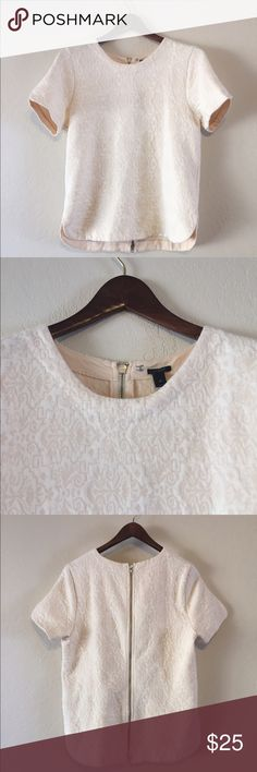 J.Crew Jacquard Back Zip Top Cozy zipper back top with textured fabric. Excellent used condition. J. Crew Tops Blouses