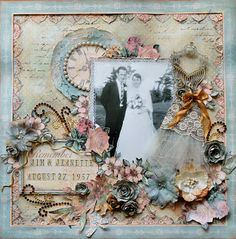 Wedding scrapbook layout (its even the right date!) :-)