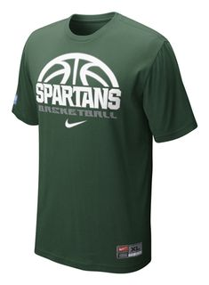 huge discount ee359 d8861 Michigan State University Nike Basketball Practice T-shirt