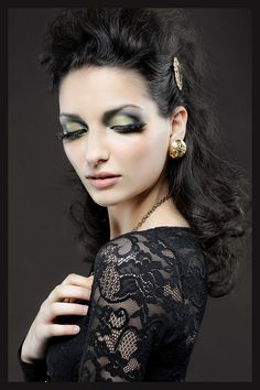 Yellow and Green Smoky Eye http://patriciamakeupartistry.com/2012/03/17/yellow-and-green-makeup-can-be-very-sultry/#