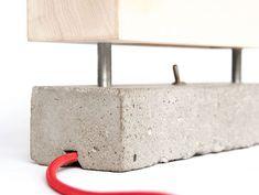 Block Lamp by Tool & Bark - concrete armature - concrete light   Betonarmatuur - beton-lamp