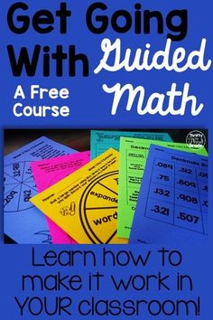 Do you want to learn how to make Guided Math work in your classroom this year? Sign up for this free course and learn all about how to have flexible groups that run themselves every day! Learn what groups should be happening in your classroom every day and how to make your students responsible for their own learning!