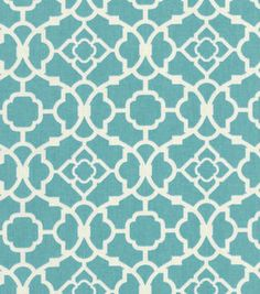 Waverly Home Decor Print Fabric Lovely Lattice Aqua