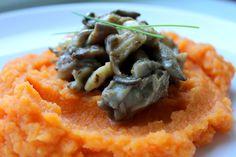 Hlíva ústřičná s mrkvovo-celerovým pyré   Cooking with Šůša