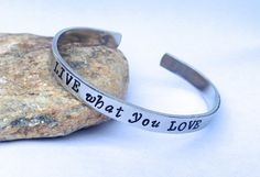 #Live What You #Love Cuff #Bracelet by BlissfulBirdDesigns on Etsy, $16.95 #accessories #jewelry #fashion