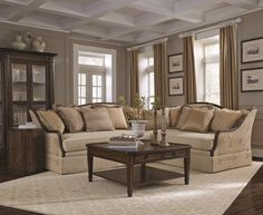 Ava Upholstery Grey Sectional Collection | A.R.T. Furniture | Living Room Furniture | Antique Style Collections