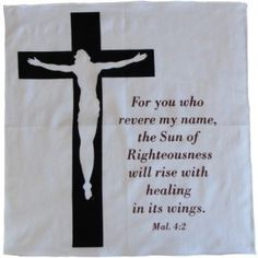 Prayer Cloth - Jesus Cross Son of Righteousness Jesus On The Cross, Righteousness, Christian Gifts, Communion, Worship, Prayers, Healing, Names, Clothes