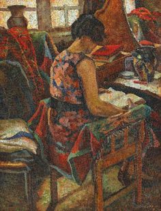 ✉ Biblio Beauties ✉ paintings of women reading letters and books - Leon Viorescu