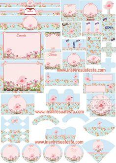 Passarinho-rosa-e-azul-provençal-Personalizados http://inspiresuafesta.com/passarinho-provencal-rosa-e-azul-kit-digital-gratuito/#more-10164