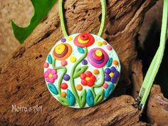 Beautiful Summer Colors  Polymer Clay Jewelry  by MoirasArt, $23.00