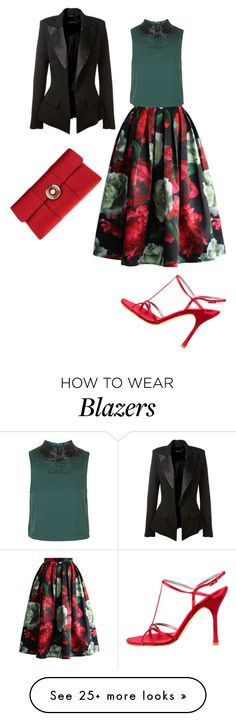 """""""Untitled #4399"""" by browneyegurl on Polyvore featuring Chicwish, Topshop, ESCADA, Nina and Alexandre Vauthier"""