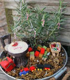 8 DIY Miniature Christmas Fairy Garden Ideas To Make In Minutes   Balcony Garden Web Christmas Garden, Miniature Christmas, Christmas Tree, Garden Ideas To Make, Garden Web, Garden Crafts, Tree Branches, Garden Inspiration, Easy Diy
