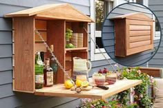 "So it's not a bed but what a neat use of the ""murphy bed"" concept!  Perfect for outdoor entertaining or even storing gardening tools."